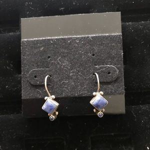 Sterling silver earrings with blue stones